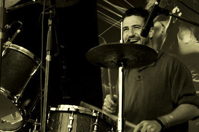 Yvan Marizy à la batterie
